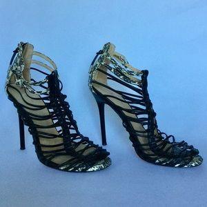 L.A.M.B Payton Strappy Cage Sandal Size 8.5